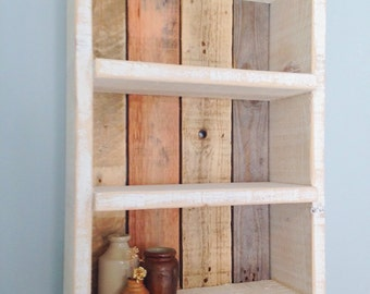 Reclaimed wood shelf etsy for Local reclaimed wood