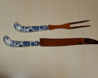 ENGLAND KNIFE and F0RK Serving Set