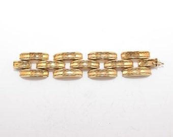 Vintage sterling silver-gold plated bracelet 4329 (17.5 cm)