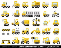 Construction Digital Clipart  CONSTRUCTION CLIPART, Trucks ClipArt, Dump Truck clip art, Personal & Commercial Use, instant download