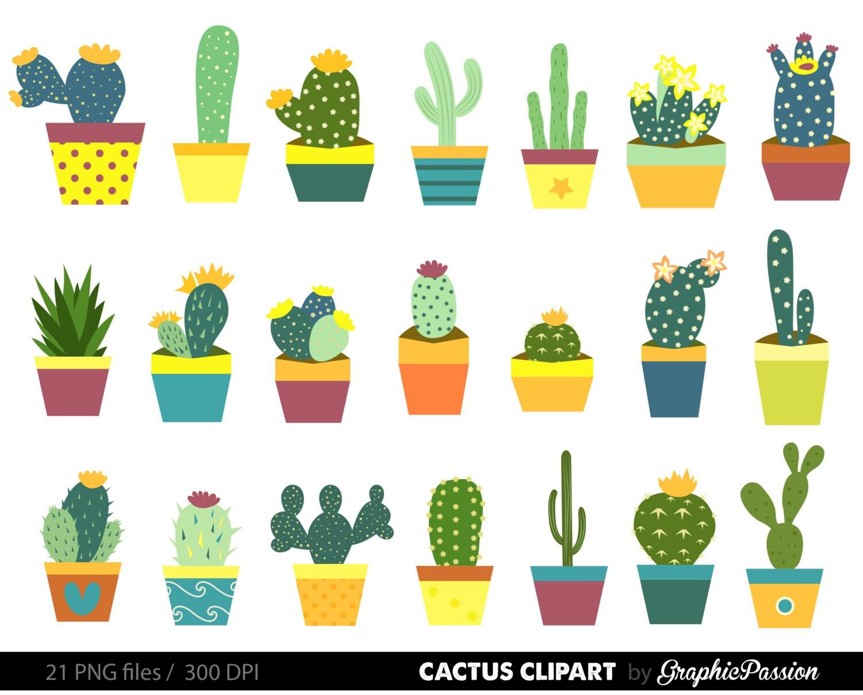 Cactus Clipart. Cactus Illustration. Cactus by GraphicPassion