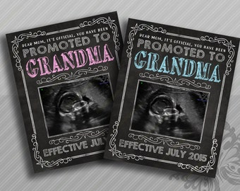 Grandma Pregnancy Reveal - Mom promoted to Grandma announcement
