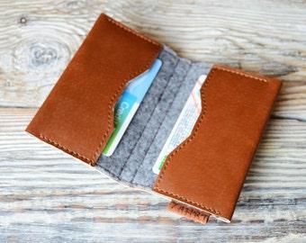 Credit card holder Pocket wallet Card wallet Handmade card holder