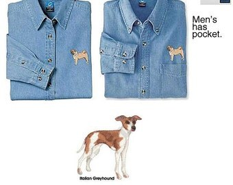 Italian Greyhound Denim Shirt - Men's