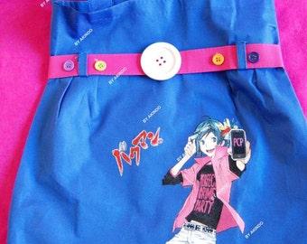 Bakuman handpainted anime bag, kawaii bag
