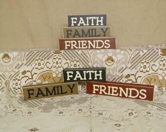 Handmade Faith Family Friends---Make Great Little Shelf Sitters
