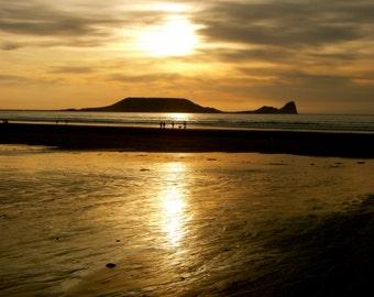 Sunset at Rhossili, Swansea