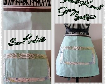 Ocean Inspired Half Aprons (1 chef style)
