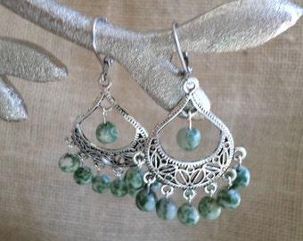Jade Crescent Earrings