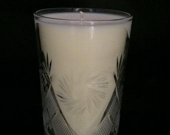 "New Cut Crystal 8 Ounce Candle ""Petitgrain"""