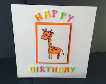 Foam Happy Birthday Giraffe Card