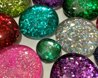 Glass Glitter Magnets