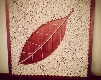 Tobacco Leaf Wood & Nail Art