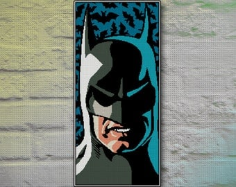 Batman Cross Stitch Pattern INSTANT DOWNLOAD