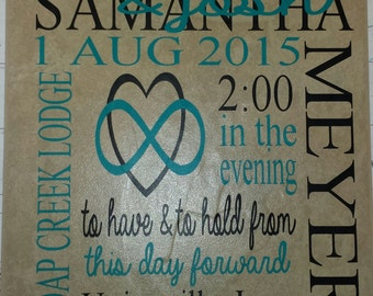 Personalized Wedding/Anniversary Tile-Free Shipping