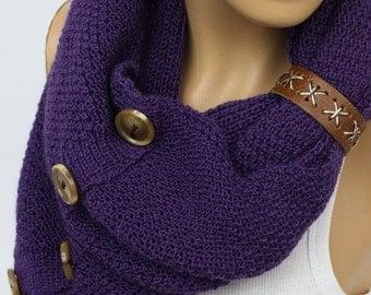 Womens Knit Winter Scarves, Womens Knit Infinity Scarf, Knit Scarves, Knit Infinity Scarves