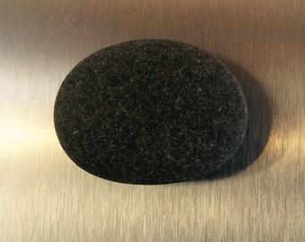 Lake Superior Tumbled Grey Basalt Beach Stone Magnet