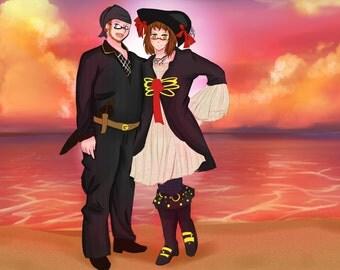 Anime Couple Drawing