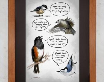 "Bird Print ""You Are My Sunshine!"""