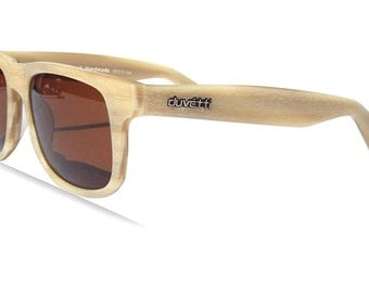 30% OFF Sale! Handmade Polarized Woodgrain Sunglasses - Made in Italy, Wayfarer Vintage design - Holiday SALE!
