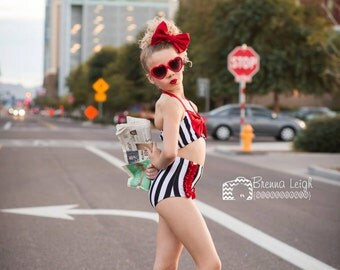 Adorable DanceWear - Ruffle Dance Brief and Big Bow Halter Top