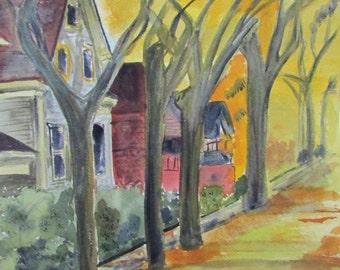 Milwaukee Avenue, Minneapolis- Original Watercolor Painting