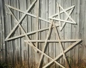 Shabby Chic Old Fence Wood Stars. Home and Garden Decor