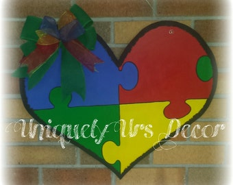 Autism Awareness Door Hanger