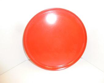 Vintage Heller Massimo Vignelli Red Dinner Plate