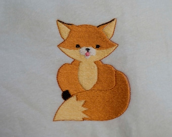 fox machine embroidery design