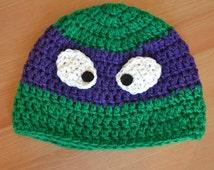 Hat, ninja turtles, ninja turtles hat, baby crochet