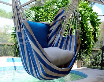 Marine Dock - Fine Cotton Hammock Chair, Made in Brazil
