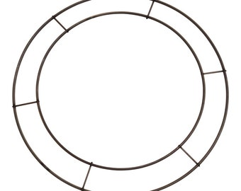 12 Inch Wreath Form, Double Rail Wreath Form, Can be Used For Double Faced Wreaths
