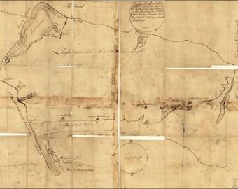 24x36 Poster; Map Of Queens Village Queens New York City 1781