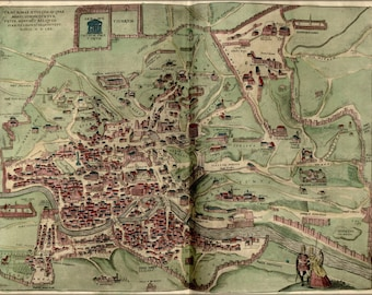 24x36 Poster; Map Of Rome 1570