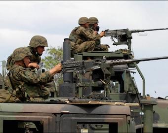 24x36 Poster; Vehicle-Mounted M2 .50 Caliber Machine Guns