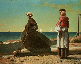 24x36 Poster; Dad'S Coming By Winslow Homer, 1873