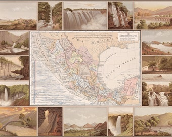 24x36 Poster; Hydrographic Map Of Mexico 1885