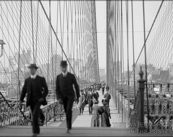 24x36 Poster; Brooklyn Bridge, New York, N.Y C1900