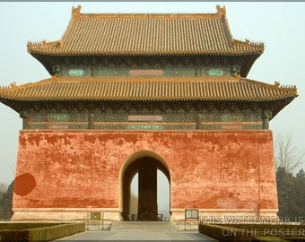 24x36 Poster; Ming Dynasty Tombs