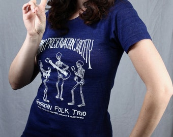 1970's Vintage Song Preservation Society Navy Blue T Shirt