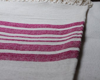 Handwoven Nicaraguan Cotton Stripped Blanket
