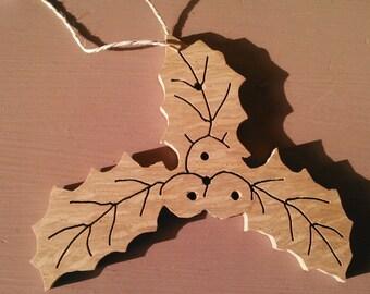 Holly Leaf Ornament!! --Handmade--