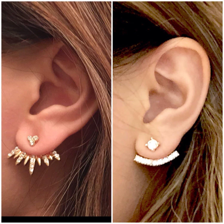 Ear Jacket Set of 4 Earrings