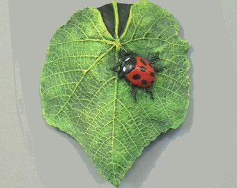 Ladybug on Leaf Wallspot