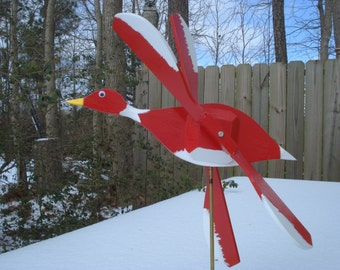 Red Duck Whirligig