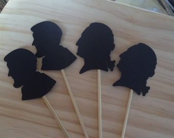 President Day Cupcake Toppers  Lincoln  Washington