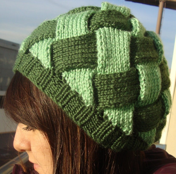 Gorgeous Woven Hat (slouchy beanie style)