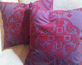 DESIGNER PILLOWS, a pair...Fabric by Pierre Frey of Paris