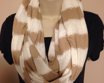 A beautiful, soft, comfy infinity scarf